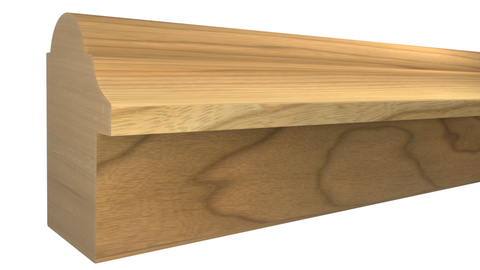 "Profile View of Backband Molding, product number BB-116-102-1-MA - 1-1/16"" x 1-1/2"" Maple Backband - $2.32/ft sold by American Wood Moldings"