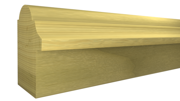"Profile View of Backband Molding, product number BB-116-102-1-PO - 1-1/16"" x 1-1/2"" Poplar Backband - $1.08/ft sold by American Wood Moldings"