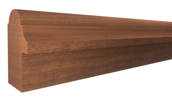 "BB-124-102-1-HMH - 1-1/16"" x 1-3/4"" Honduras Mahogany Backband - $4.56/ft"