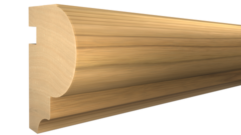 "Profile View of Bullnose Molding, product number BN-126-108-1-MA - 1-1/4"" x 1-13/16"" Maple Bullnose - $3.88/ft sold by American Wood Moldings"