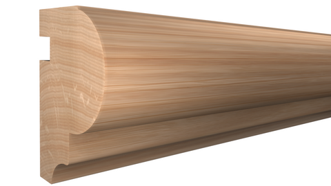 "Profile View of Bullnose Molding, product number BN-126-108-1-RO - 1-1/4"" x 1-13/16"" Red Oak Bullnose - $3.48/ft sold by American Wood Moldings"
