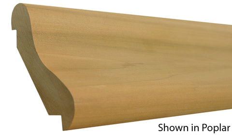 "Profile view of bar rail molding, product number BR510 1-1/2""x5-1/2"" Red Oak $11.84ft. sold by American Wood Moldings"