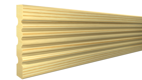 "Profile View of Casing Molding, product number CA-308-022-5-CP - 11/16"" x 3-1/4"" Clear Pine Casing - $1.48/ft sold by American Wood Moldings"