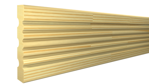 "Profile View of Casing Molding, product number CA-308-022-5-FPI - 11/16"" x 3-1/4"" Finger Joint Pine Casing - $0.92/ft sold by American Wood Moldings"