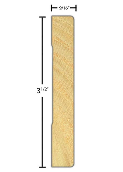 "CA-316-018-1-CP - 9/16"" x 3-1/2"" Clear Pine Casing - $1.16/ft"