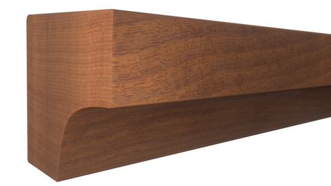 "Profile View of Cove Molding, product number CO-008-008-1-HMH - 1/4"" x 1/4"" Honduras Mahogany Cove - $1.16/ft sold by American Wood Moldings"