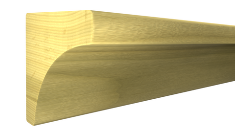 "Profile View of Cove Molding, product number CO-016-016-1-PO - 1/2"" x 1/2"" Poplar Cove - $0.64/ft sold by American Wood Moldings"