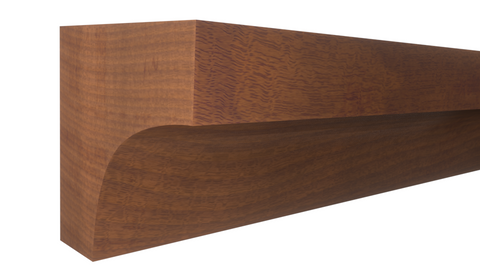 "Profile View of Cove Molding, product number CO-020-020-2-HMH - 5/8"" x 5/8"" Honduras Mahogany Cove - $1.64/ft sold by American Wood Moldings"
