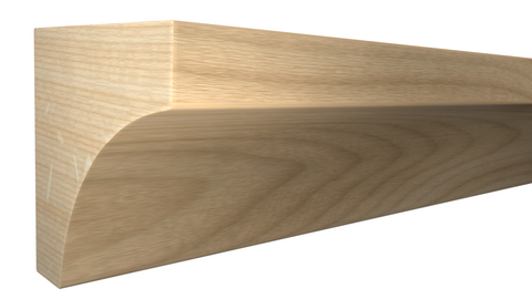 "Profile View of Cove Molding, product number CO-024-024-1-BI - 3/4"" x 3/4"" Birch Cove - $1.52/ft sold by American Wood Moldings"