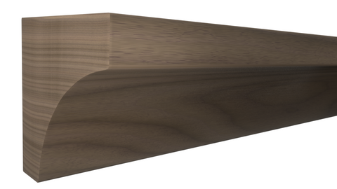 "Profile View of Cove Molding, product number CO-024-024-1-BWA - 3/4"" x 3/4"" Brazilian Walnut Cove - $2.16/ft sold by American Wood Moldings"