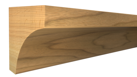 "Profile View of Cove Molding, product number CO-024-024-1-HI - 3/4"" x 3/4"" Hickory Cove - $1.16/ft sold by American Wood Moldings"