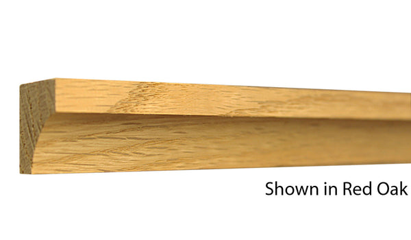 "Profile View of Cove Molding, product number CO-100-024-1-RO - 3/4"" x 1"" Red Oak Cove - $1.20/ft sold by American Wood Moldings"