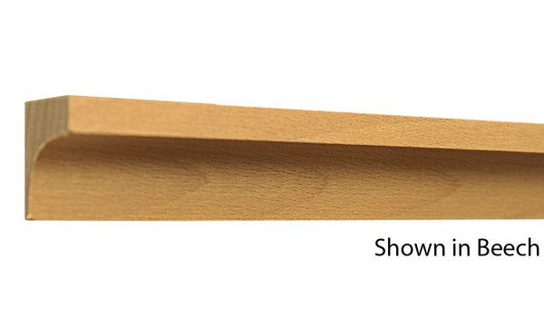 "Profile View of Cove Molding, product number CO-102-024-1-BE - 3/4"" x 1-1/16"" Beech Cove - $0.96/ft sold by American Wood Moldings"