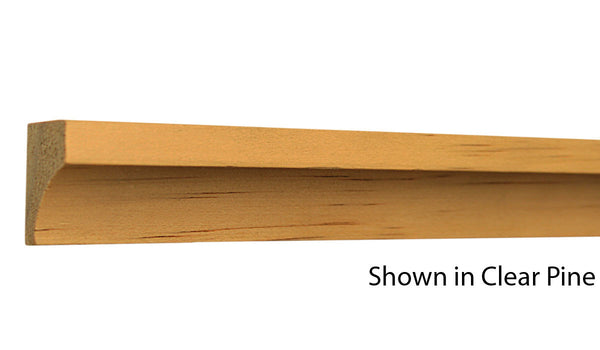 "Profile view of cove molding, product number CO140 5/8""x1-1/8"" Clear Pine $0.96/ft. sold by American Wood Moldings"