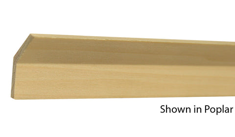 "Profile View of Cove Molding, product number CO-115-016-1-PO - 1/2"" x 1-15/32"" Poplar Cove - $1.56/ft sold by American Wood Moldings"