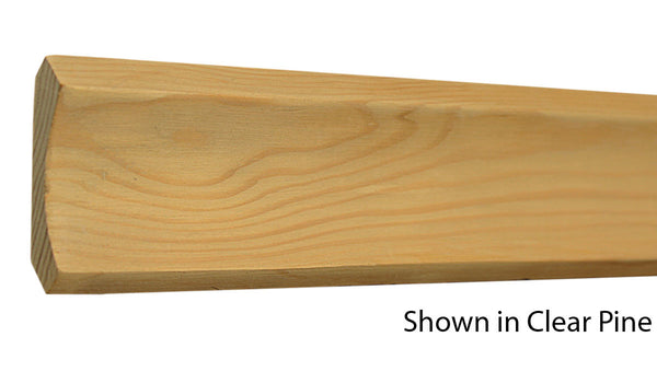 "Profile View of Cove Molding, product number CO-208-018-1-CP - 9/16"" x 2-1/4"" Clear Pine Cove - $1.24/ft sold by American Wood Moldings"