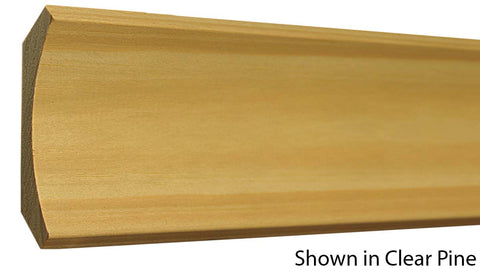 "Profile View of Cove Molding, product number CO-320-024-1-CP - 3/4"" x 3-5/8"" Clear Pine Cove - $2.96/ft sold by American Wood Moldings"