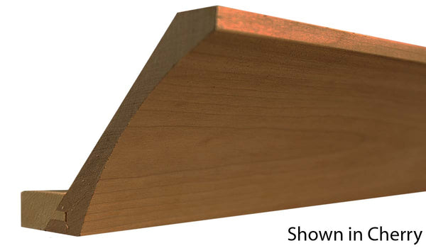 "Profile view of cove molding, product number CO510 13/16""x5-5/8"" Cherry $6.48/ft. sold by American Wood Moldings"