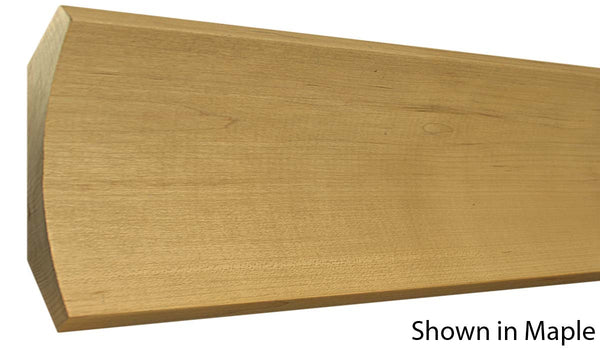 "Profile view of cove molding, product number CO710 1-13/16""x7-7/8"" Maple $22.96/ft. sold by American Wood Moldings"