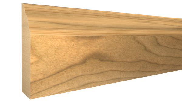 "Profile View of Door Stop Molding, product number DS-112-012-1-MA - 3/8"" x 1-3/8"" Maple Door Stop - $1.85/ft sold by American Wood Moldings"
