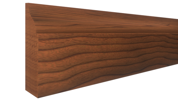 "Profile View of Door Stop Molding, product number DS-112-014-1-BCH - 7/16"" x 1-3/8"" Brazilian Cherry Door Stop - $2.80/ft sold by American Wood Moldings"