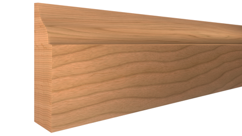 "Profile View of Door Stop Molding, product number DS-112-014-1-CH - 7/16"" x 1-3/8"" Cherry Door Stop - $2.46/ft sold by American Wood Moldings"