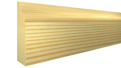 "Profile View of Door Stop Molding, product number DS-112-014-1-CP - 7/16"" x 1-3/8"" Clear Pine Door Stop - $0.80/ft sold by American Wood Moldings"