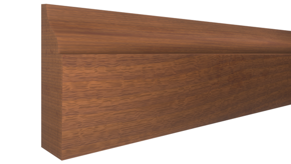 "Profile View of Door Stop Molding, product number DS-112-014-1-HMH - 7/16"" x 1-3/8"" Honduras Mahogany Door Stop - $4.35/ft sold by American Wood Moldings"