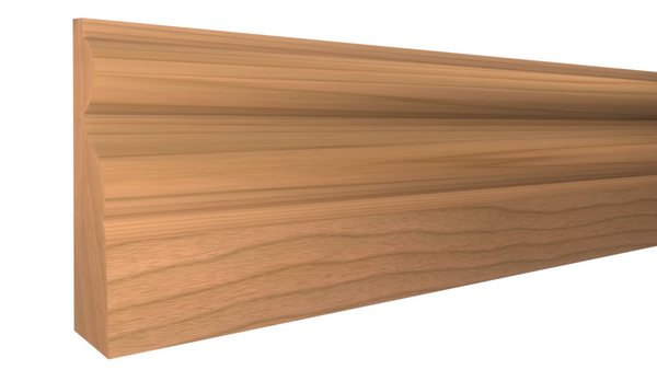 "Profile View of Door Stop Molding, product number DS-124-016-1-CH - 1/2"" x 1-3/4"" Cherry Door Stop - $2.64/ft sold by American Wood Moldings"