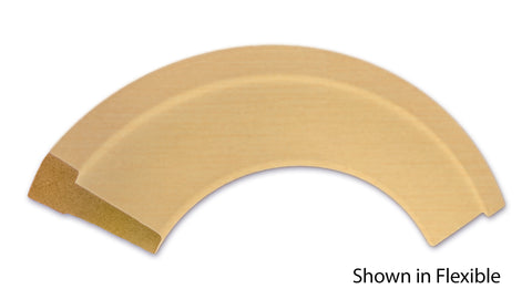 "Profile View of Flexible Casing Molding, product number CA-308-022-4-FL - 11/16"" x 3-1/4"" Smooth Urethane Flexible Casing - $13.69/ft sold by American Wood Moldings"