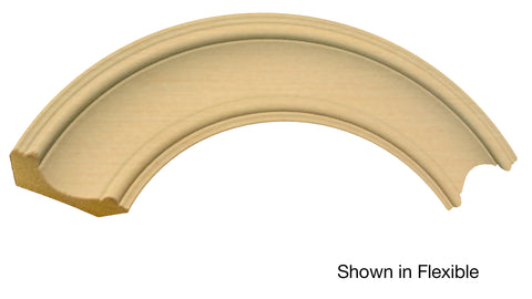 "Profile View of Flexible Crown Molding, product number CR-312-022-1-FL - 11/16"" x 3-3/8"" Smooth Urethane Flexible Crown - $8.13/ft sold by American Wood Moldings"