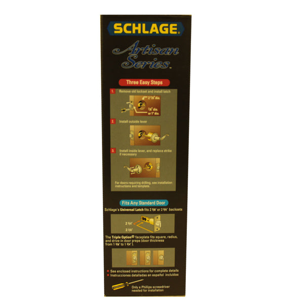 Schlage Right-Handed Door Handle/Satin Nickel - $40.00 sold by American Wood Moldings