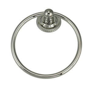 Profile View of Towel Ring Molding, product number Jado Towel Ring 038.150.144/Brushed Nickel - $60.00 sold by American Wood Moldings