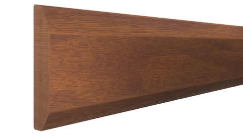 "Profile View of Mullion Molding, product number MU-100-010-1-HMH - 5/16"" x 1"" Honduras Mahogany Mullion - $2.52/ft sold by American Wood Moldings"
