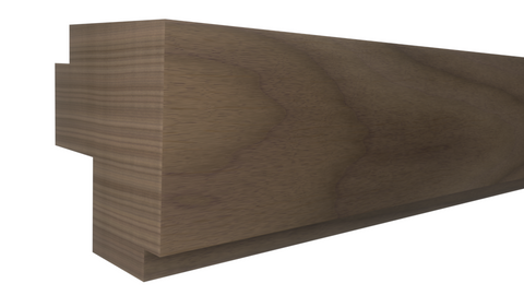 "Profile View of Outside Corner Molding, product number OC-014-014-1-WA - 7/16""x7/16"" Walnut Outside Corner - $1.40/ft sold by American Wood Moldings"