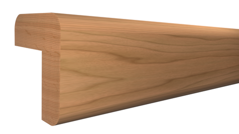 "Profile View of Outside Corner Molding, product number OC-024-024-1-CH - 3/4"" x 3/4"" Cherry Outside Corner - $2.12/ft sold by American Wood Moldings"