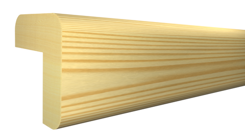 "Profile View of Outside Corner Molding, product number OC-024-024-1-CP - 3/4"" x 3/4"" Clear Pine Outside Corner - $0.68/ft sold by American Wood Moldings"