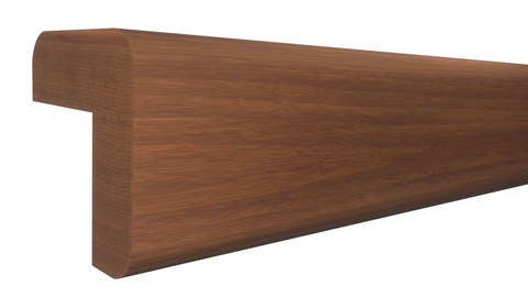"Profile View of Outside Corner Molding, product number OC-024-024-1-HMH - 3/4"" x 3/4"" Honduras Mahogany Outside Corner - $4.98/ft sold by American Wood Moldings"