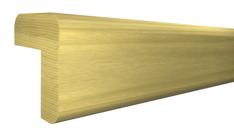 "Profile View of Outside Corner Molding, product number OC-024-024-1-PO - 3/4"" x 3/4"" Poplar Outside Corner - $0.92/ft sold by American Wood Moldings"