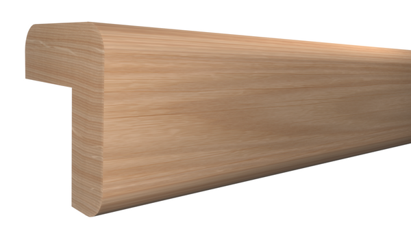 "Profile View of Outside Corner Molding, product number OC-024-024-1-RO - 3/4"" x 3/4"" Red Oak Outside Corner - $1.32/ft sold by American Wood Moldings"