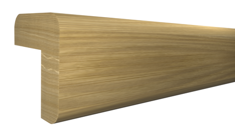 "Profile View of Outside Corner Molding, product number OC-024-024-1-WO - 3/4"" x 3/4"" White Oak Outside Corner - $1.64/ft sold by American Wood Moldings"