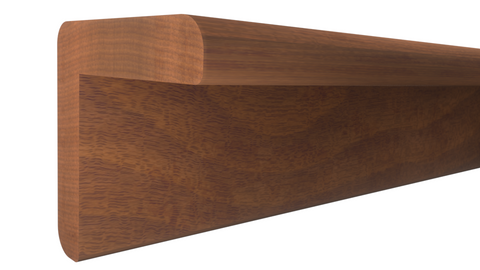"Profile View of Outside Corner Molding, product number OC-102-102-1-HMH - 1-1/16"" x 1-1/16"" Honduras Mahogany Outside Corner - $7.88/ft sold by American Wood Moldings"