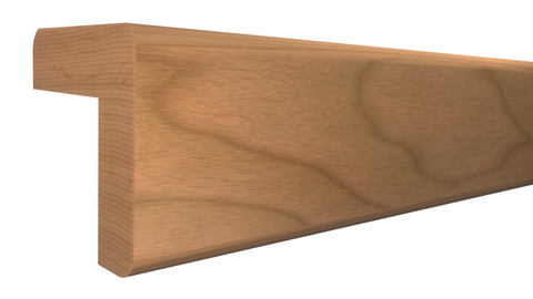 "Profile View of Outside Corner Molding, product number OC-104-104-1-CH - 1-1/8"" x 1-1/8"" Cherry Outside Corner - $3.76/ft sold by American Wood Moldings"