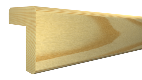 "Profile View of Outside Corner Molding, product number OC-104-104-1-CP - 1-1/8"" x 1-1/8"" Clear Pine Outside Corner - $1.28/ft sold by American Wood Moldings"