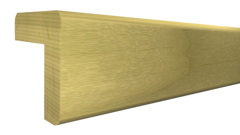"Profile View of Outside Corner Molding, product number OC-104-104-1-PO - 1-1/8"" x 1-1/8"" Poplar Outside Corner - $2.28/ft sold by American Wood Moldings"