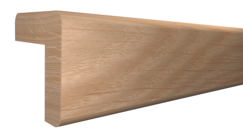 "Profile View of Outside Corner Molding, product number OC-104-104-1-RO - 1-1/8"" x 1-1/8"" Red Oak Outside Corner - $2.64/ft sold by American Wood Moldings"