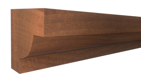 "Profile View of Panel Molding Molding, product number PA-020-020-1-HMH - 5/8"" x 5/8"" Honduras Mahogany Panel Molding - $1.64/ft sold by American Wood Moldings"