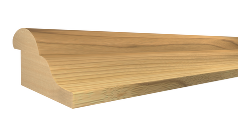 "Profile View of Panel Molding Molding, product number PA-024-012-1-MA - 3/8"" x 3/4"" Maple Panel Molding - $1.44/ft sold by American Wood Moldings"