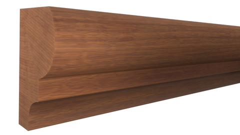 "Profile View of Panel Molding Molding, product number PA-024-016-1-HMH - 1/2"" x 3/4"" Honduras Mahogany Panel Molding - $1.88/ft sold by American Wood Moldings"