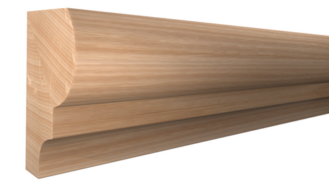 "Profile View of Panel Molding Molding, product number PA-024-016-1-RO - 1/2"" x 3/4"" Red Oak Panel Molding - $1.12/ft sold by American Wood Moldings"
